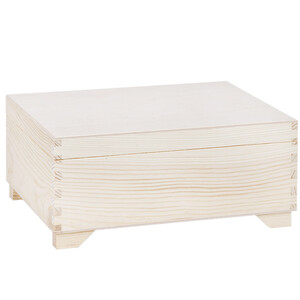 Wooden box with lid 30 x 20 cm with 1 insert storage box...