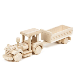 Tractor with trailer agriculture farm tractor toy wooden toy