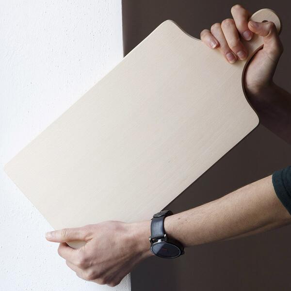 PLANCHE rectangulaire avec poignée 18 cm x 40 cm petit déjeuner découpage set 1 10