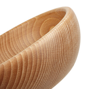 0.9 liter wooden bowl 18,5 x 16,5 x 6 cm wooden bowl for...
