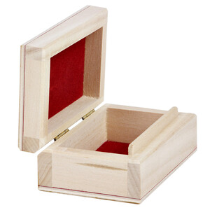 Gift box ring box natural wooden box with folding lid