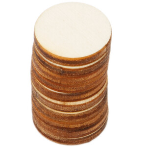 10 pieces of wooden circles Ø 2 cm wood discs crafting...