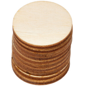 10 pieces of wooden circles Ø 3 cm wood discs crafting...