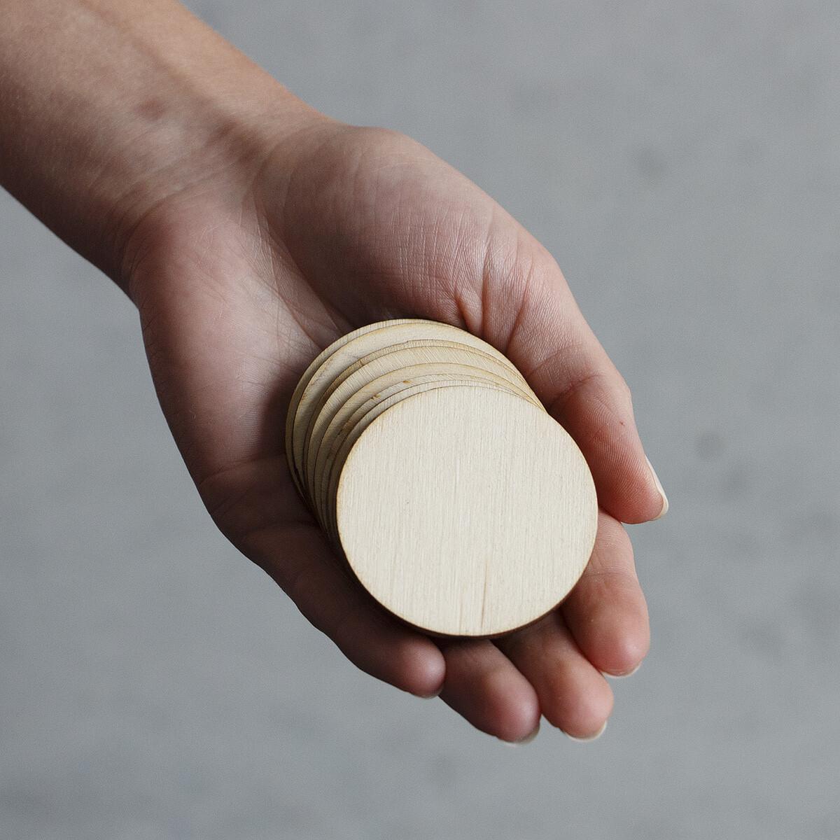10 st ck holzscheiben 5 cm holzrad basteln bemalen besc - Holz beschriften ...