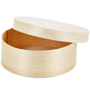 0.7 liter round storage box wooden box with lid kitchen box