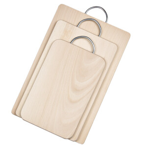 Set of 3 wooden boards with handle 3 sizes of household...