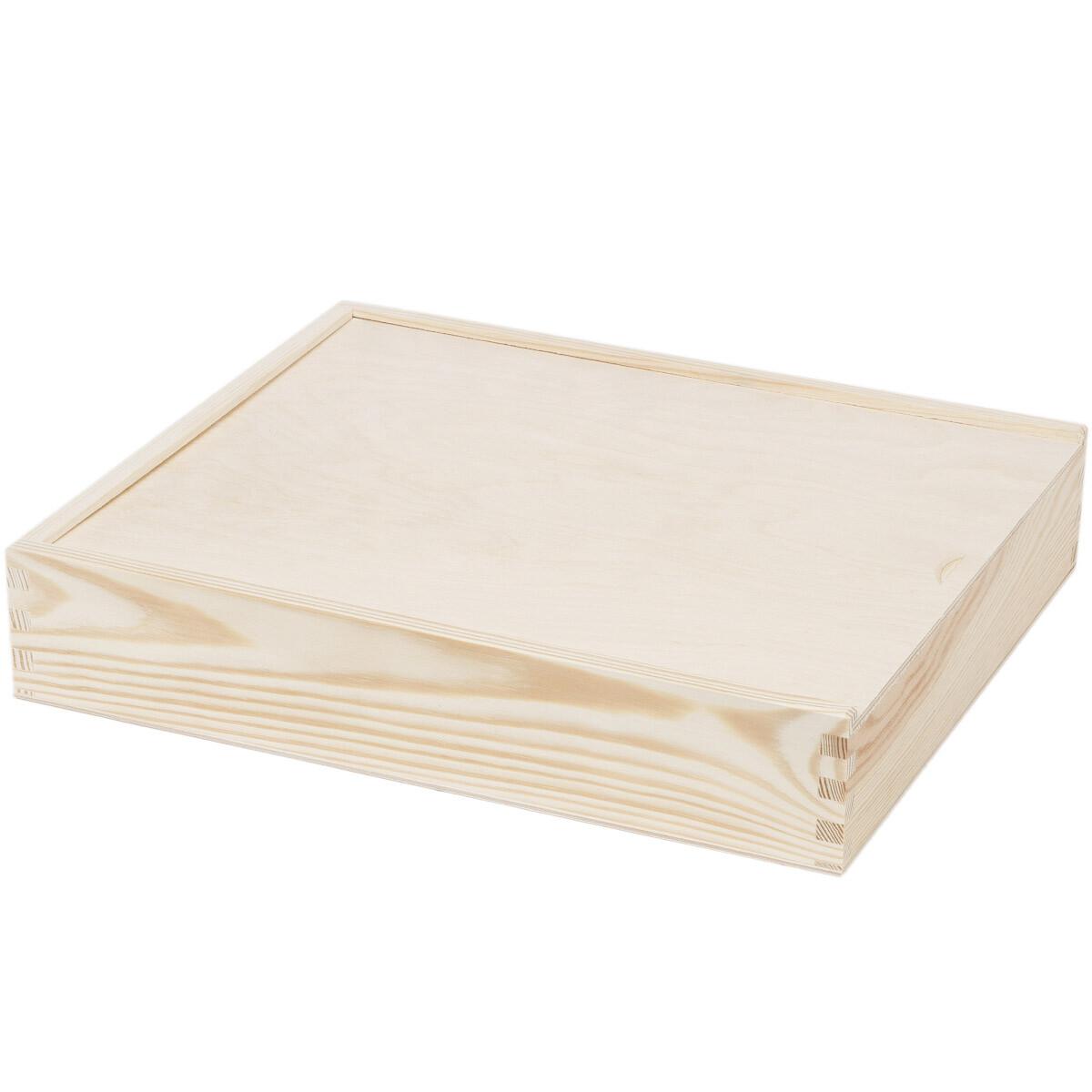 gro e kiste bilderbox 28 x 33 cm holzkiste schiebe deckel aufbe. Black Bedroom Furniture Sets. Home Design Ideas