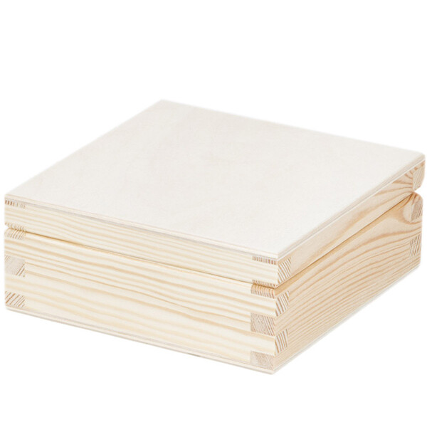 0 3 liter 12 x 12 x 5 cm quadratisch holz box kiste kistchen holzkist 4 29. Black Bedroom Furniture Sets. Home Design Ideas
