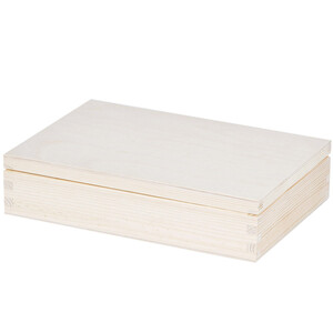 1,6 liter 26,5 x 19 x 6,5 cm wooden box lid wooden case...