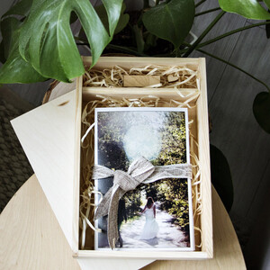 Photo box 32 x 21 cm pen compartment 2 compartments...
