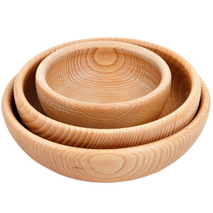 Set of 3 mixing bowls wooden bowl wooden salad snacks...
