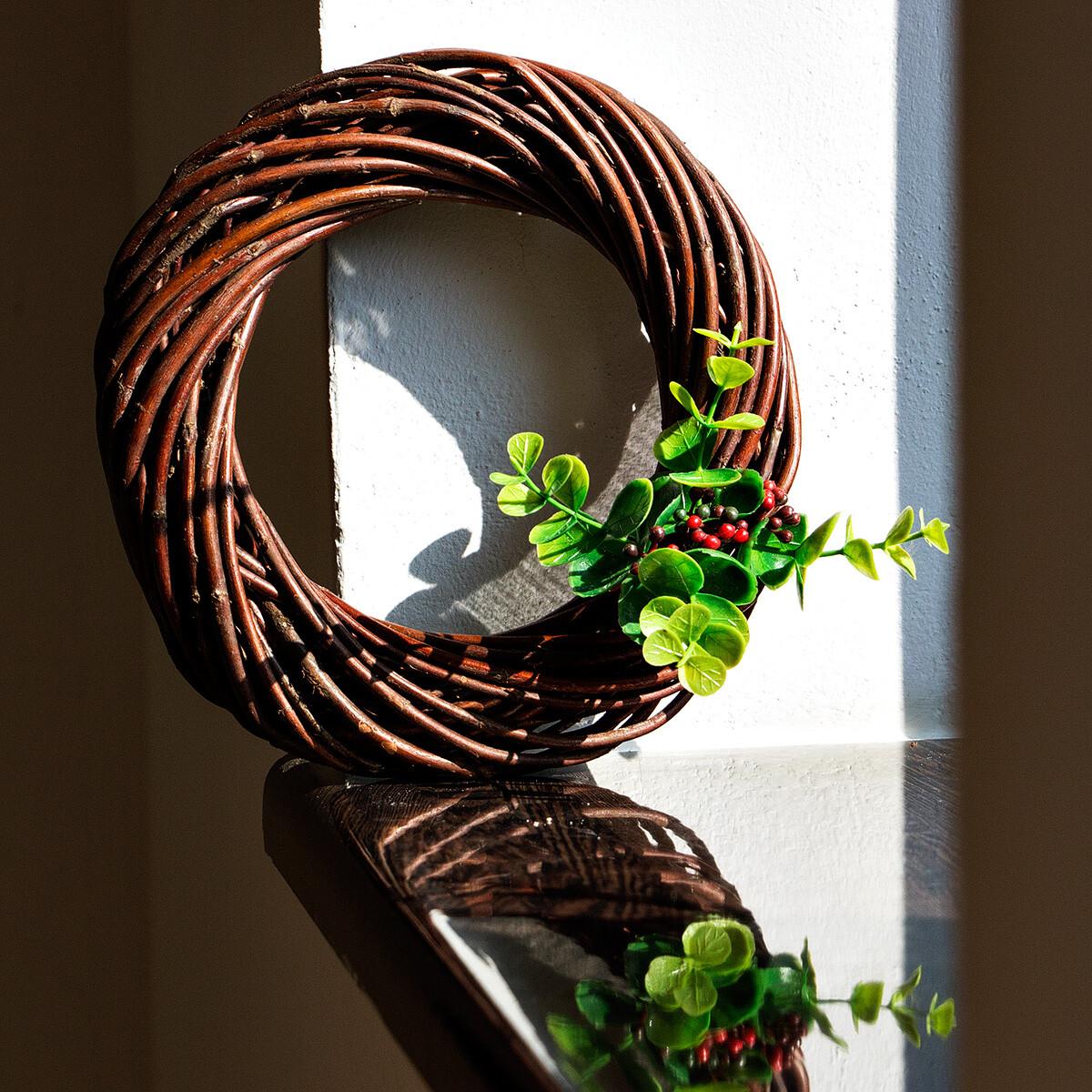 weidenkranz 20 cm braun dekokranz t rkranz kr nze wohndekor. Black Bedroom Furniture Sets. Home Design Ideas
