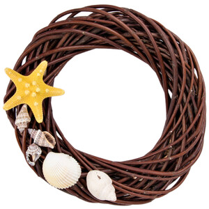 Willow wreath 20 cm brown home décor door wreath wicker...
