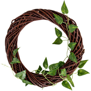 Brown wreath willow wreath 30 cm door decoration...