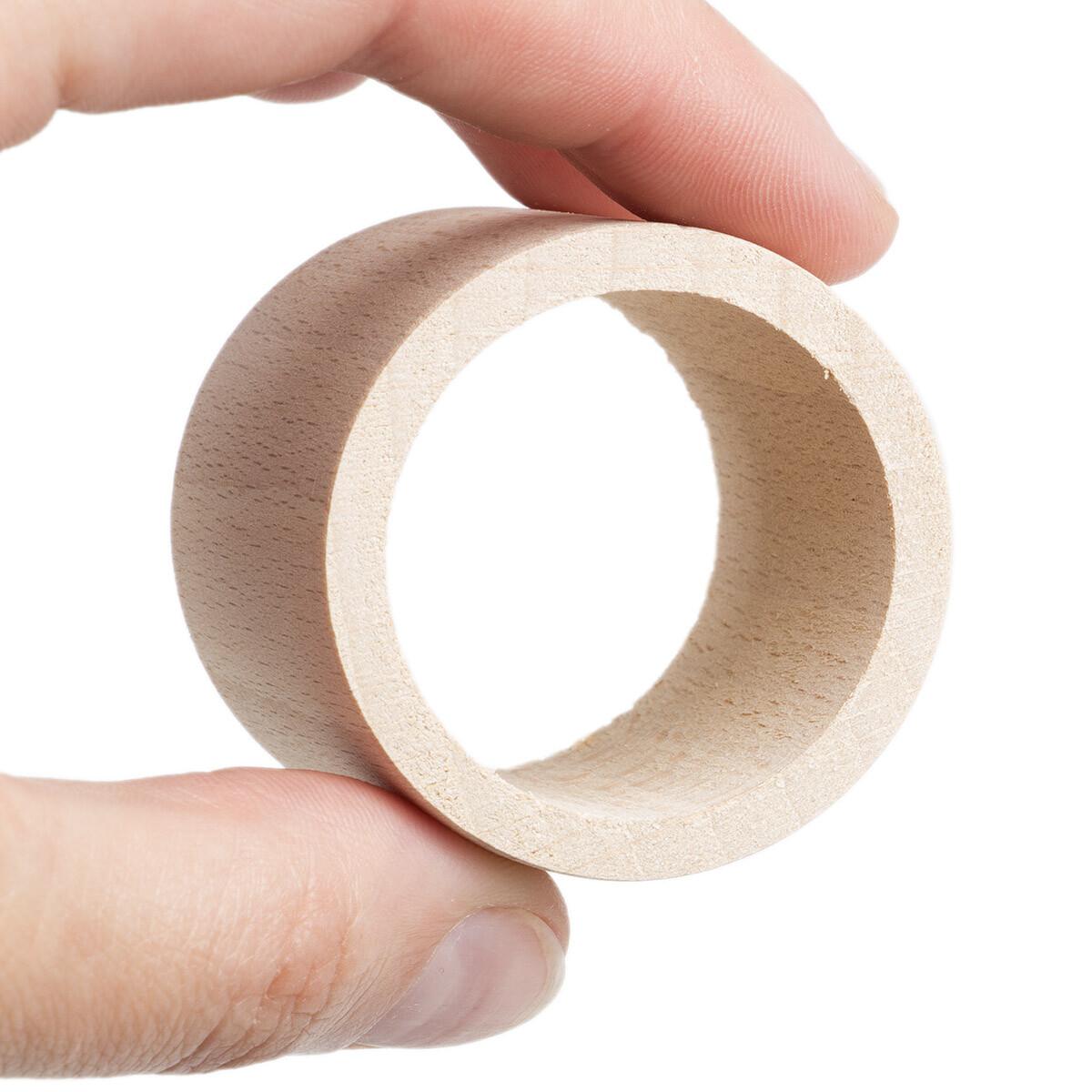 1 st ck holz servietten ring gerade form holz serviettenring ser. Black Bedroom Furniture Sets. Home Design Ideas