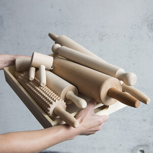 Rolling pin wooden pastry roller pizza roller dough cake...