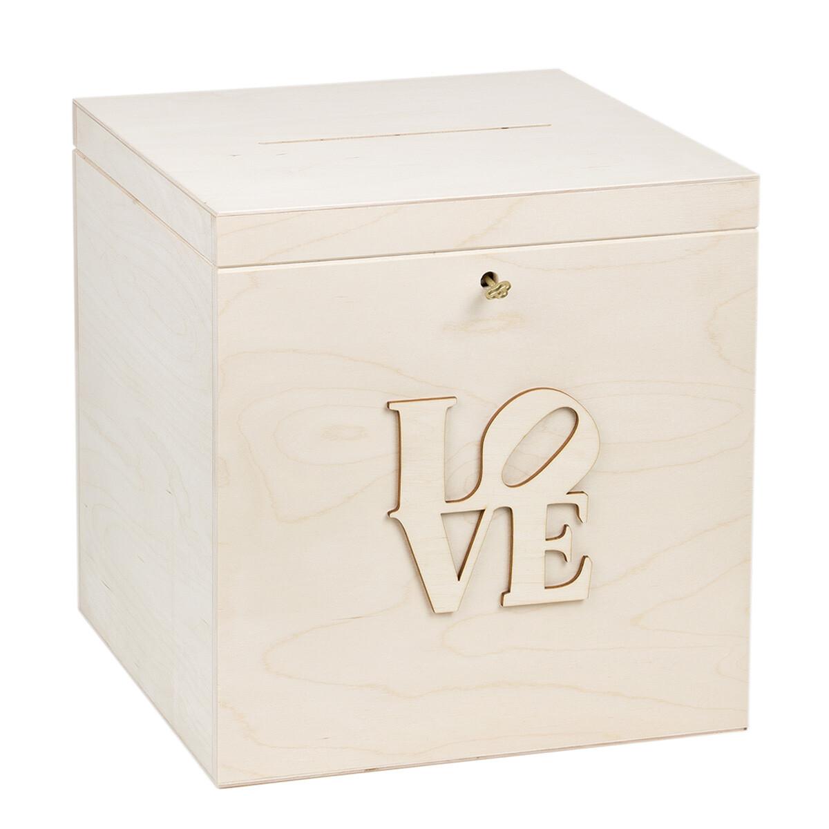 Hochzeitsbox wahlurne holz natur gedlgeschenkbox geldgeschenke - Geldgeschenke aus holz ...