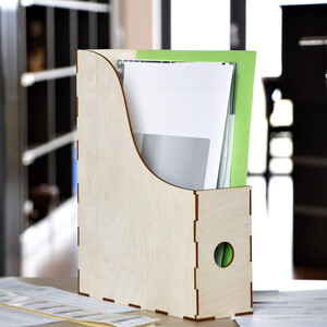 Wooden organizer for documents files newspaper files stand