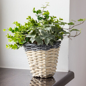 high 1,0 litre willow flower pot plant pot willow