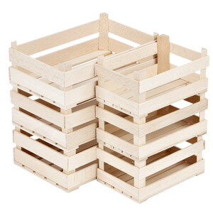 Wooden crate slatted wooden box wood farm crate shop...