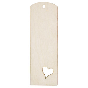 Heart Bookmark Wood Pagefinder Bookmarks