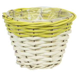 1,4 litre flower pot planter willow Ø 17 cm basket pot...