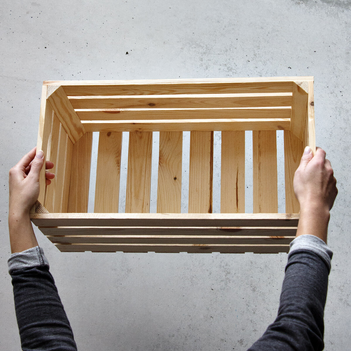 35 liter holzkiste stiege holz 50 x 27 cm material 1 cm weinkiste. Black Bedroom Furniture Sets. Home Design Ideas