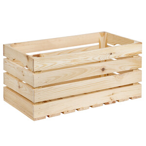35 litre wooden box staircase wood 50 x 27 cm material...