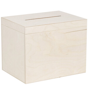 10,5 litre wooden ballot box