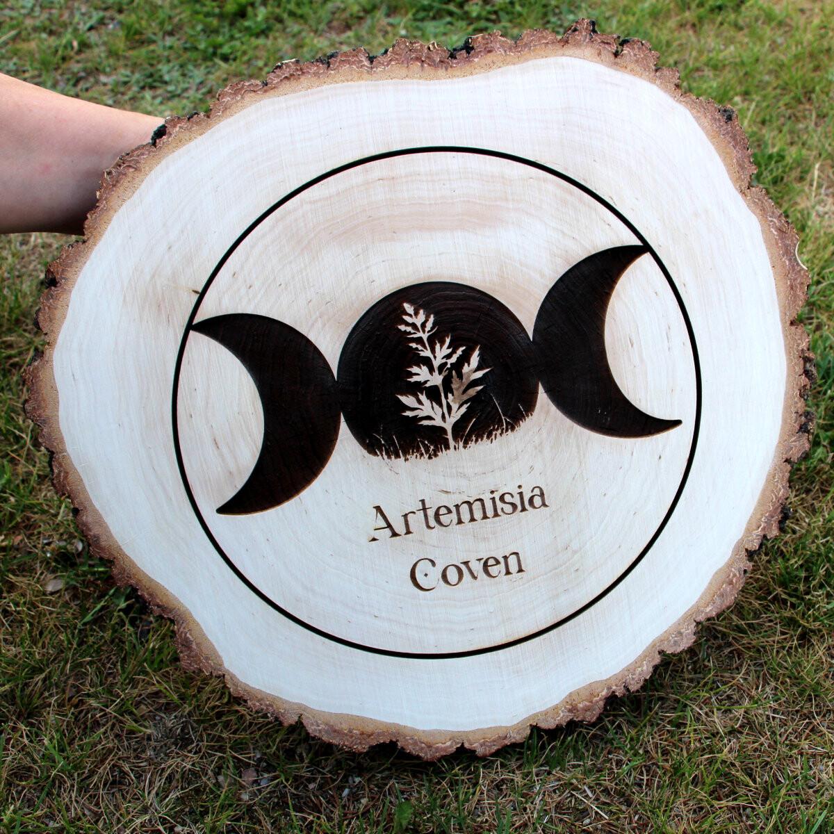 grande rondelle en bois tranche disque 25 35 cm avec votre g. Black Bedroom Furniture Sets. Home Design Ideas