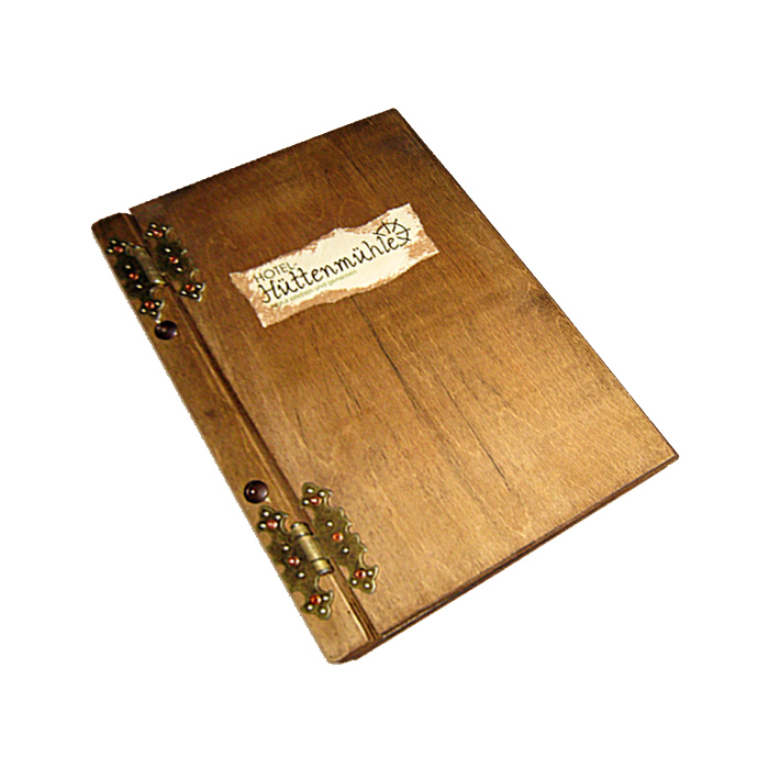 Holz Menükarte mit eigenem Schriftzug